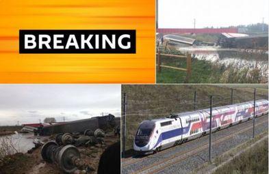 Нова трагедия във Франция: Влак дерайлира близо до Страсбург